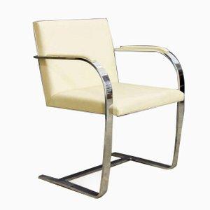 Vintage Brno Stühle mit Cremefarbenem Leder von Ludwig Mies van der Rohe für Knoll, 4er Set