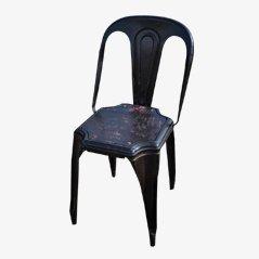 Französischer Metallstuhl von Tolix