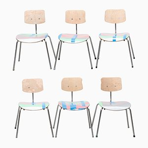Silber und Neon Chairs by Markus Friedrich Staab, 2018, Set of 6