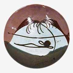 Vintage Keramikschüssel von Buxo, 1950er