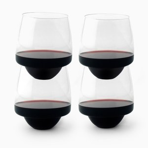 Set of 4 Saturn Wine Glasses by SuperDuperStudio