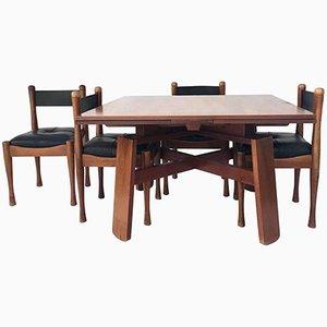 Tavolo da pranzo con 4 sedie di Silvio Coppola per Bernini, anni '60