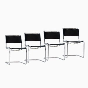 Cantilevered Office Chairs by Mart Stam for Thonet, Set of 4