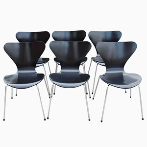 Model 3107 Dining Chair by Arne Jacobsen for Fritz Hansen, 1960s, Set of 6