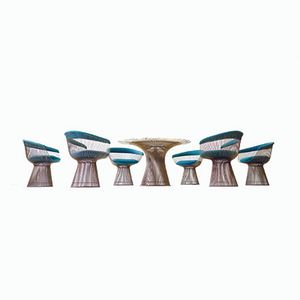 Esstisch und Beistellstühle von Warren Platner für Knoll International, 1968
