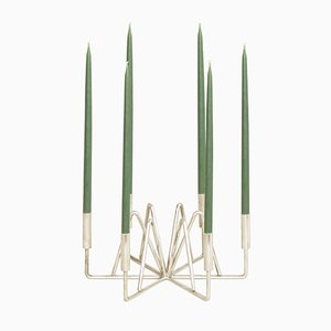 Versilberter Dänischer Kerzenständer, 1950er