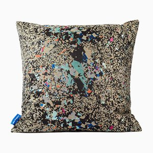 Black Multi Crystalline Square Cushion by Other Kingdom