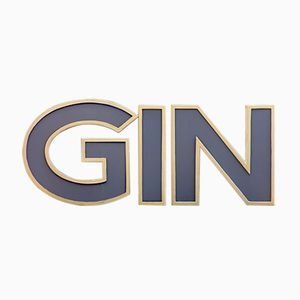 Mid-Century Three-Dimensional Illuminated Letters GIN