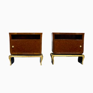Italian Rounded Night Stands, 1940s, Set of 2