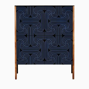 Dark Blue Four Door Loop Cabinet by Coucou Manou