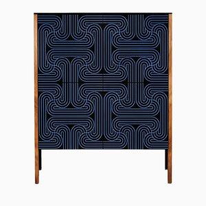 Dunkelblaues Loop Kabinett mit 4 Türen von Coucou Manou
