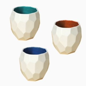 Poligon Espresso Cups by Sander Lorier for Studio Lorier, Set of 3