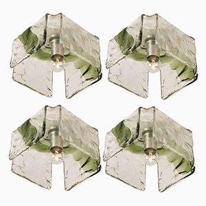 Applique in vetro soffiato di J.T. Kalmar, anni '60, set di 4