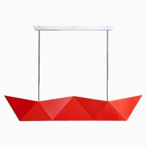 Lampada Deriva fluorescente arancione di Alessandro Mendini