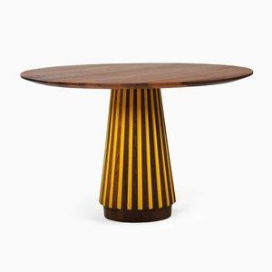 Tavolo da pranzo Sefefo serie Color dipinto di Patricia Urquiola per Mabeo