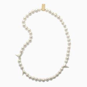 Collier en Dents de Requin et en Perles par Nektar de Stagni