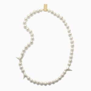 Shark Teeth and Pearl Necklace by Nektar De Stagni