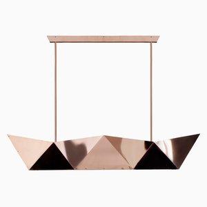 Lampada Deriva in rame di Alessandro Mendini