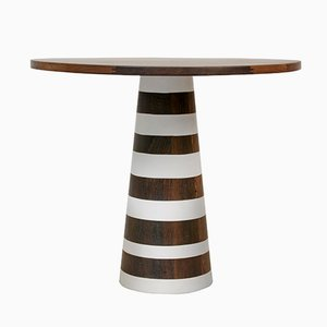 Thuthu Table with Painted Stripes by Patty Johnson for Mabeo