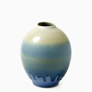 Vase in Blue & White No.1 by Tortus Copenhagen