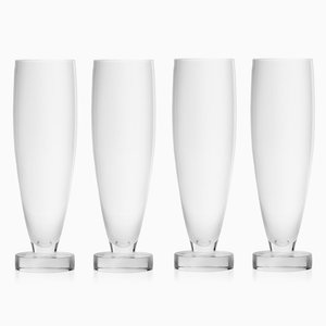 Set of Four Tulip Flutes by Aldo Cibic