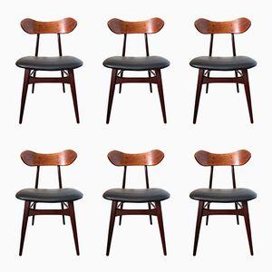 Esszimmerstühle von Louis van Teeffelen für WéBé, 1960er, 6er Set