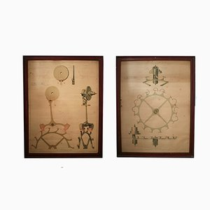 Poster antichi industriali, set di 2