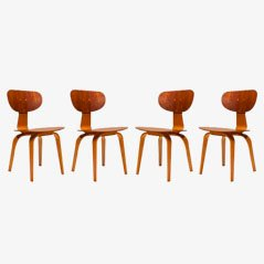 SB02 Dining Chairs by C. Braakman for Pastoe, 1955, Set of 4