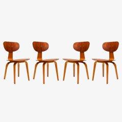 SB02 Esszimmerstühle von C. Braakman für Pastoe, 1955, 4er-Set