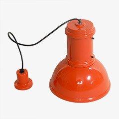 Red Lampara Pendant Lamp from Fontana Arte, 1965