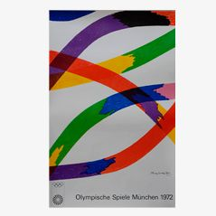 Munich Olympics Lithograph by Piero Dorazio for Siedbrook, 1972