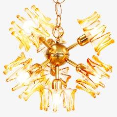 Murano Glass Pendant Light from AV Mazzega, 1950s