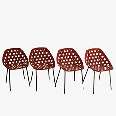 Coquillage Chairs by Pierre Guariche for Meurop, Set of 4