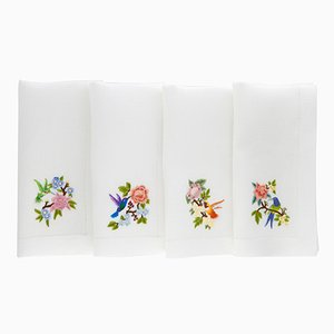 Colibri Servietten von The NapKing für Bellavia Ricami SPA, 4er Set