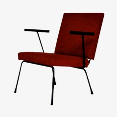 Red Lounge Chair by Wim Rietveld for Gispen