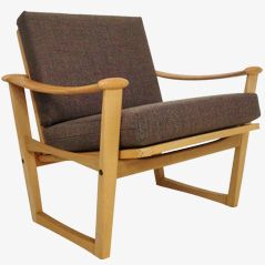 Beech Armchair Chair from M. Nissen I / S – Horsens, Denmark, 1960s