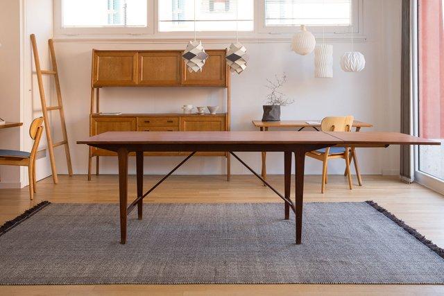 Table De Salle  Manger Extensible Vintage Danemark En Vente Sur Pamono