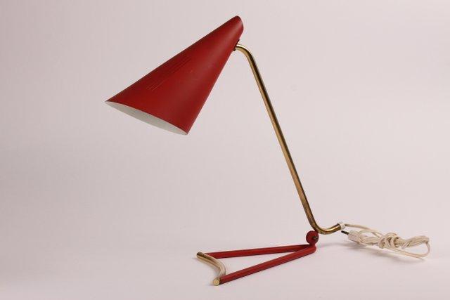 Italienische rote tischlampe 1950er bei pamono kaufen for Italienische esstische