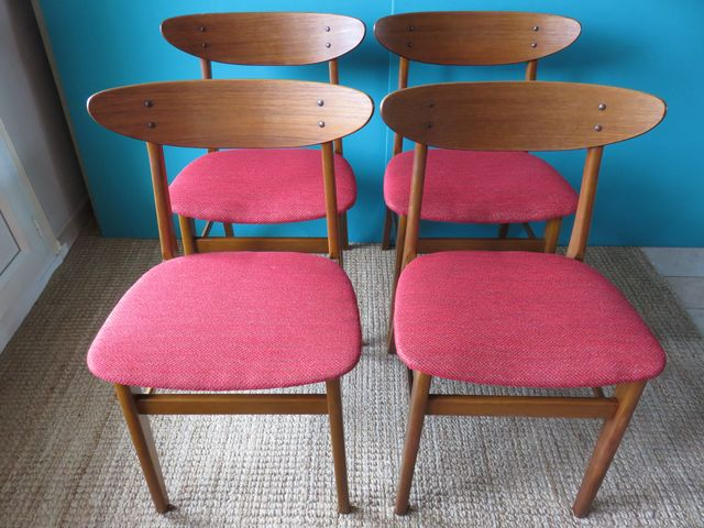 Danish Beech & Teak Chairs from Farstrup, 1950s, Set of 4 for sale ...