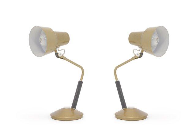 norwegische luxo l 11 tischlampen von jac jacobsen 1950er. Black Bedroom Furniture Sets. Home Design Ideas
