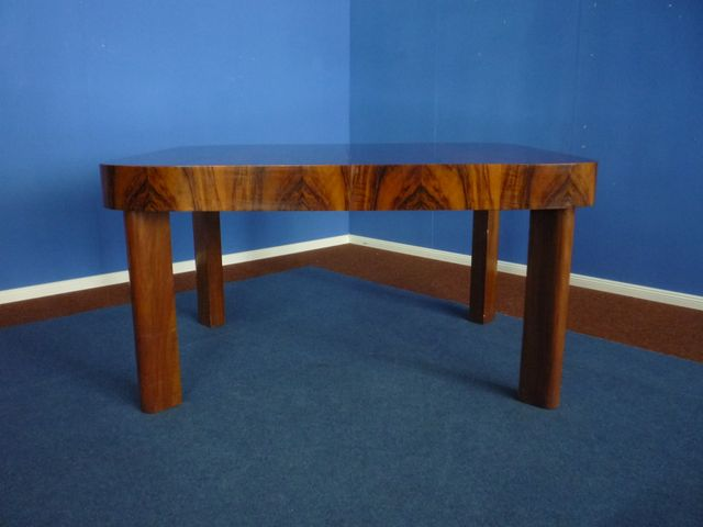 Art Deco Extendable German Walnut Dining Table 1930s For Sale At Pamono