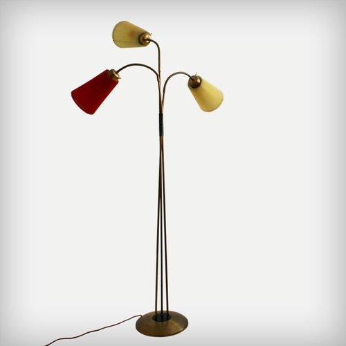 Italienische stehlampe mit drei armen 1950er bei pamono for Italienische esstische
