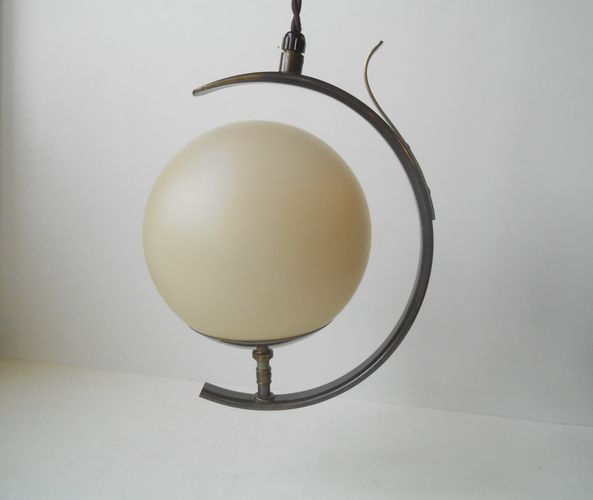 Art deco moon pendant lamp from fog mørup 1930s for sale at pamono