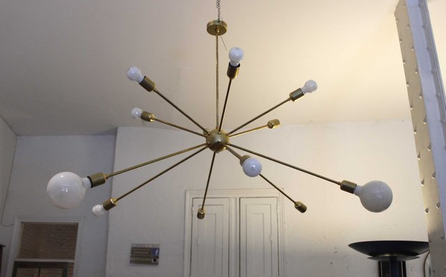 Sputnik ceiling light with 12 arms by juanma lizana for sale at pamono mozeypictures Image collections
