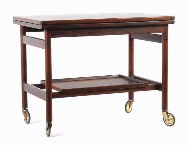 Mid Century Danish Rosewood Bar Trolley Table By Kurt