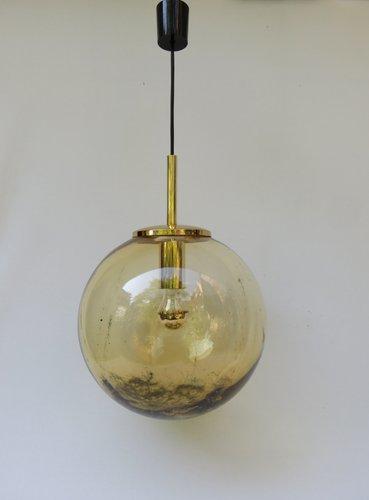 Vintage italian yellow glass ball pendant light for sale at pamono aloadofball Gallery
