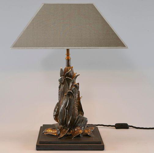 Italienische mid century tischlampe mit fu in mais optik for Italienische esstische