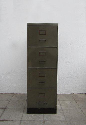 Industrieller Metall Aktenschrank von Acior, 1950er bei Pamono kaufen