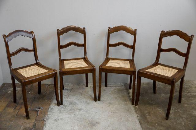 Antike biedermeier esszimmerst hle 4er set bei pamono kaufen for 4er schlafsofa