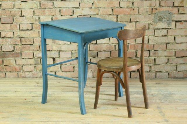 Vintage schulbank mit stuhl aus holz von baumann and for Designklassiker stuhl holz